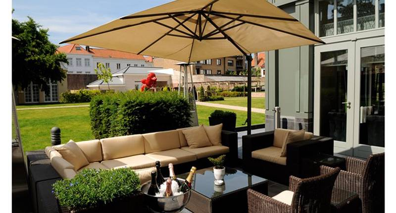 Hotel Dukes' Palace Bruges – terras