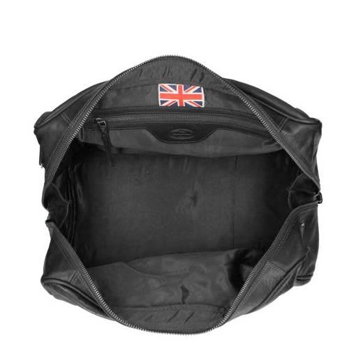 Chesterfield Liam Travelbag black – binnenkant
