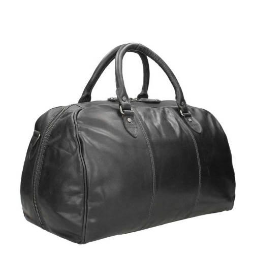Chesterfield Liam Travelbag black – zijkant