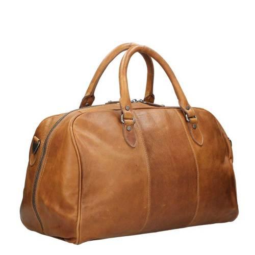 Chesterfield Liam Travelbag cognac – zijkant
