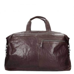 Spikes & Sparrow Bronco Travelbag dark brown - buitenkant