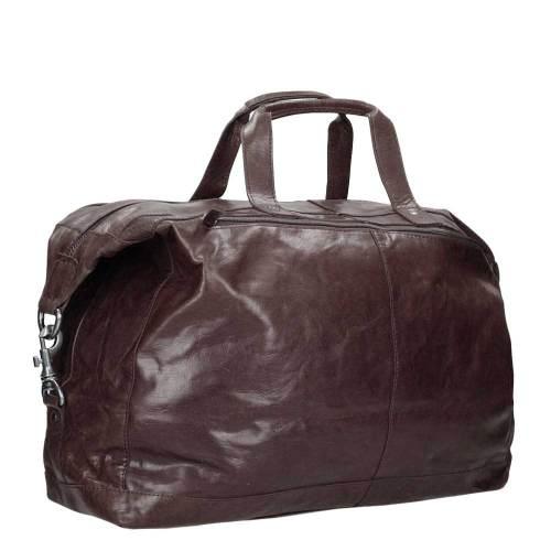 Spikes & Sparrow Bronco Travelbag dark brown – zijkant